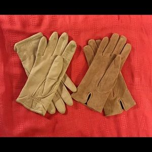 Accessories - Pink glove bundle: suede and smooth leather
